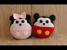 Mickey dan Minnie Mouse dari Kain Flanel - YouTube