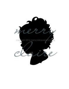 Immortalize those amazing curls with a custom, hand-cut silhouette of your little one!  Just in time for Christmas!