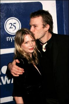 Michelle Williams and Heath Ledger.