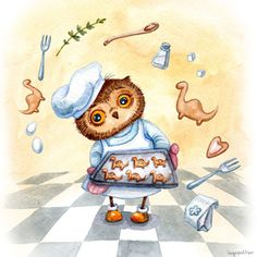 """Notepad series """"Owls by Inga Paltser"""" (Eksmo publishing) Format: View series at Eksmo website Funny Animal Comics, Owl Cat, Paper Owls, Owl Pictures, Owl Always Love You, Wise Owl, Cute Art, Illustrations, Halloween"""