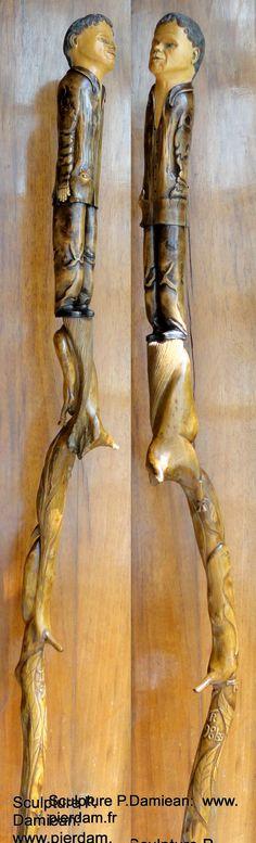 """Autoportrait """"en pied"""" datant de la fin du Siècle dernier!..... Taille directe…"""