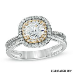 Celebration+102®+1-1/4+CT.+T.W.+Diamond+Split+Shank+Engagement+Ring+in+18K+Two-Tone+Gold+(I/SI2)