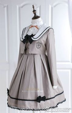 New Release: Penny House ~Dear Diary~ College School Style Lolita Outfits Kawaii Fashion, Lolita Fashion, Cute Fashion, Gothic Fashion, Cosplay Outfits, Dress Outfits, Cute Outfits, Kawaii Dress, Kawaii Clothes