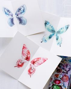 Sweet Paul presents Lova's World: DIY Butterfly Watercolor Notecards