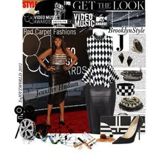 """""""GET The LOOK: On The Red Carpet with Jennifer Hudson @ the VMAs"""" by enjoyzworld on Polyvore"""