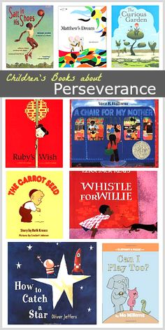 Children's Book List: Picture Books about Perseverance Children's Book List: Stories about Perseverance (Great set of stories for back to school)~ Kids Reading, Teaching Reading, Teaching Kids, Learning, Teaching Emotions, Reading Books, Teaching Tools, Leader In Me, Mentor Texts