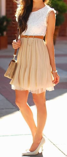 simple, feminine style, I would probably need a different color skirt though