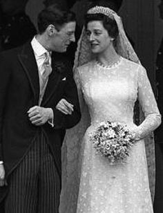 Princess Alexandra of Kent (the youngest grand daughter of King George VI) married the Honourable Angus Ogilvy at Westminster Abbey on this day 24th April, 1963