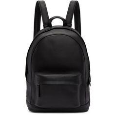 PB 0110 Black Mini CA 7 Backpack (€480) ❤ liked on Polyvore featuring bags, backpacks, black, mini rucksack, leather roll bag, mini backpacks, leather daypack and backpack bags