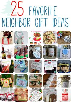 25 Favorite Neighbor Gift Ideas - because giving gifts is positively lovely, but sometimes thinking of the perfect gift is more than a little tricky! Check out these gift ideas and have a very merry holiday season. Neighbor Christmas Gifts, Cute Christmas Gifts, Neighbor Gifts, Homemade Christmas, Holiday Crafts, Christmas Holidays, Santa Gifts, Christmas Ideas, Diy Cadeau Noel