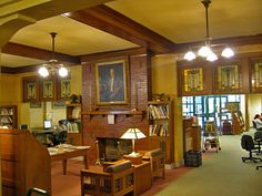 Interior, Eckhart Public Library, Auburn, Indiana... oh, the memories I have of this small library!