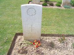 Gravestone of family member Brettville sur mer outside of Caen Normandy, taken april 2010