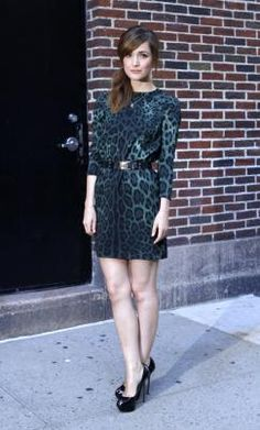 Rose Byrne Fashion-Rose Byrne Wears Leopard Print Dolce & Gabbana To The Late Show With David Letterman Fashion 101, Fashion News, Womens Fashion, Ladies Fashion, Animal Print Dresses, Animal Prints, Who What Wear, Fashion Prints, Chic