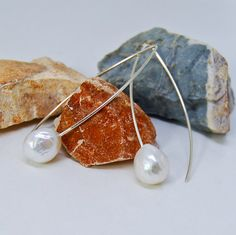Edison Pearl Earrings  Kasumi Style Earrings  by MalibuJewel