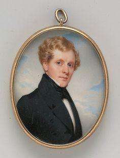 """Portrait of a Gentleman"" by Thomas Seir Cummings (1835) at the Metropolitan Museum of Art, New York"