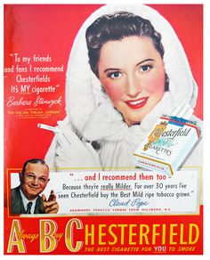 Barbara Stanwyck for Chesterfields