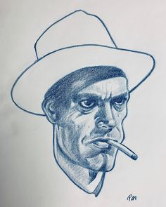 Pale moon graphics - Crook from Kansas City Confidential movie, Final drawing + process Pale Moon, Drawing Process, Prismacolor, Kansas City, Sketch, Graphics, Drawings, Illustration, Movies