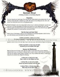 Samhain Ritual Magic Spell Book of Shadows by steelgoddess Samhain Ritual, Ritual Magic, Magic Spells, Beauty Spells, Moon Spells, Healing Spells, Magic Spell Book, Samhain Halloween, Witch Spell