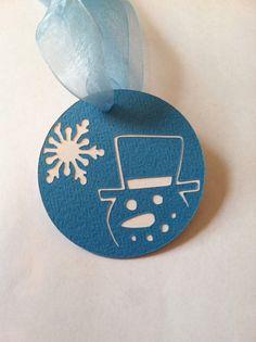 Handmade Snowman Christmas Gift Hang Tags - Qty 5