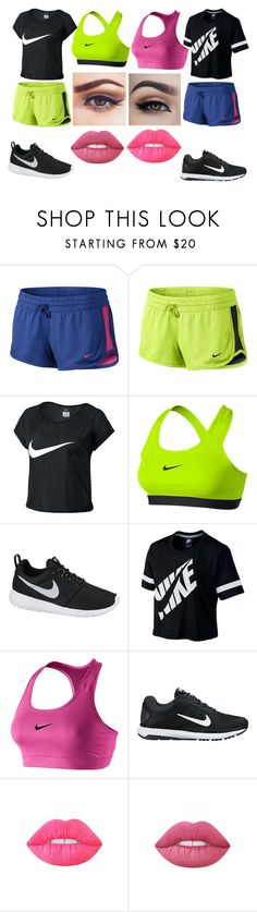 """""""El and Brie Day With El"""" by kdrajem ❤ liked on Polyvore featuring NIKE and Lime Crime"""