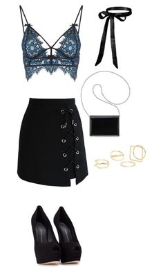 """Untitled #570"" by madelin-ruby ❤ liked on Polyvore featuring Nine West, For Love & Lemons, Giuseppe Zanotti, Chicwish and MANGO"