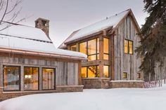 """Concept for Verticle Planks on Exterior."""" """"Super cool wood exterior"""" """"Rustic wood with glass"""" """"Contemporary barn exterior Windows"""" """"Farm sip home:-)...Exterior siding...Exterior !...Like exterior look...Rustic beautiful...Rustic look...Awesome exterior...Barn"""