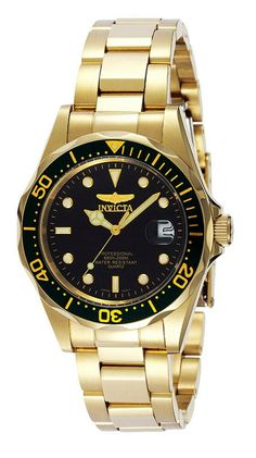 Shop a great selection of Invicta Men's Pro Diver Stainless Steel Gold Tone Watch. Find new offer and Similar products for Invicta Men's Pro Diver Stainless Steel Gold Tone Watch. Stainless Steel Watch, Stainless Steel Bracelet, Beautiful Watches, Bracelets For Men, Bracelet Men, Jewelry Bracelets, Gold Watch, Rolex, Watches For Men