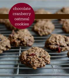 Make winter cookies and observe Oatmeal Month all at once with chocolate cranberry cookies via @UntrainedHW