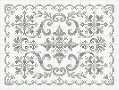 "Photo from album ""Рукоделие"" on Yandex. Cross Stitch Borders, Cross Stitch Samplers, Cross Stitch Flowers, Cross Stitch Embroidery, Embroidery Patterns, Cross Stitch Patterns, Filet Crochet Charts, Crochet Cross, Crochet Home"
