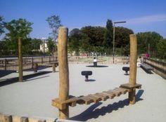 Lione, Parc Blandan Playgrounds, Pergola, Outdoor Structures, France, Explore, Kids, Young Children, Boys, Outdoor Pergola