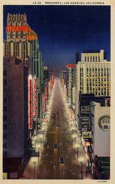 Broadway, Los Angeles, California, printed in 1931.  Photo:  jmlwinder