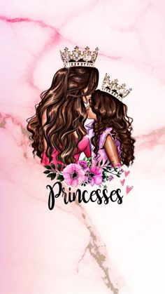 You are always a princess to me, to your father and to your sisters on Thymescira. But that doesn't make you any more than anyone you meet. Mother And Daughter Drawing, Mother Art, To My Daughter, Mother Mother, Best Friend Drawings, Girly Drawings, Pop Art Wallpaper, Emoji Wallpaper, Girly M