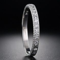 Vintage Style Diamond Wedding Band - 110-1-5943 - Lang Antiques