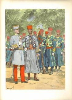 LES UNIFORMES DE L'ARMEE FRANCAISE, 1935 - collmili95's blog - Skyrock.com French Colonial, French Army, France, Military Art, Soldiers, Blog, Images, Comics, Painting