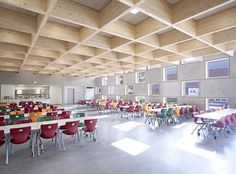 The #cafeteria of the IGS Salmtal by SpreierTrenner Architects