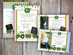 John Deere Baby Shower Invitation by FreckledExpressions on Etsy, $12.00