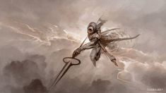 Kushiel, the Rigid One - Art by Peter Mohrbacher - Angelarium