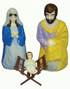 Outdoor Lighted Nativity Scene Set, General Foam Plastics Corp, Christmas Decorations, Illuminated Outdoor Nativity Scenes, Outdoor Nativity Sets, Outdoor Nativity