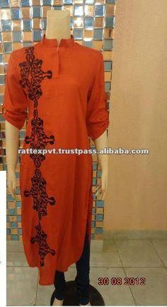 New Fashion Design Of Pakistani Lady Kurtis with Fancy embroidery work 2013