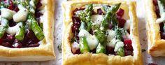 Asparagus tarts