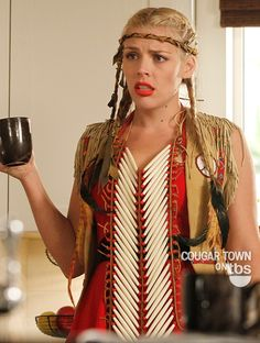 Cougar Town The Larmy Barracks. That outfit.