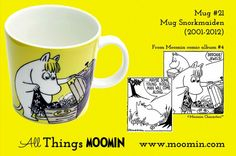 Mug – Snorkmaiden Produced: Illustrated by Tove Slotte and manufactured by Arabia. The original artwork can be found. Moomin Mugs, Tove Jansson, 21st, Tableware, Mumi, Ephemera, Trays, Den, Original Artwork