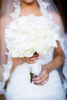White Rose and Gardenia Bouquet
