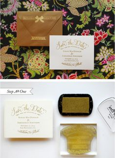 Gold-Embossed Cards | 36 Cute And Clever Ways To Save The Date