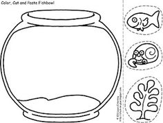 fish bowl pattern. use the printable outline for crafts, creating, Powerpoint templates
