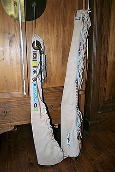 Fourreaux cuir, trappeur, Davy Crocket, Amérindiens - fait main