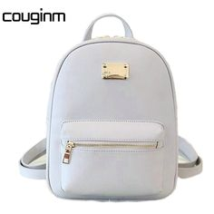 4fa7f581183e COUGINM Women Backpack Small Size PU Leather Women s Bags Fashion School  Girls Female Backpack Famous Brand