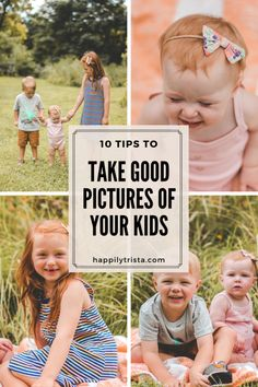 tips to take good pictures of your kids