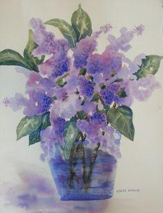 Springtime in the StudioPrint of Watercolor of by yankeegirlart, $25.00