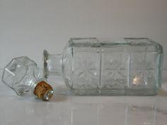 Vintage Glass Walker Deluxe Bourbon Liquor Decanter, Whiskey Decanter, Vintage Bar Ware by BessyBellBooks on Etsy